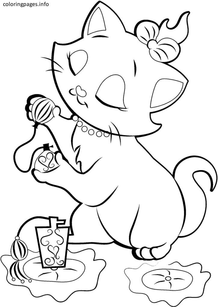 725x1023 Marie Cat Coloring Pages Disney Marie Cat Coloring Pages Coloring