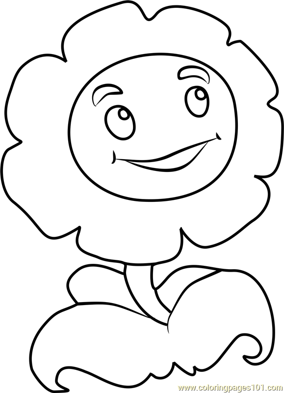 579x800 Marigold Coloring Page