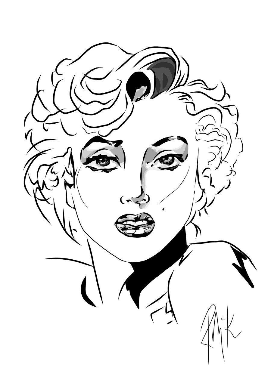 coloring pages marilyn monroe - photo#15