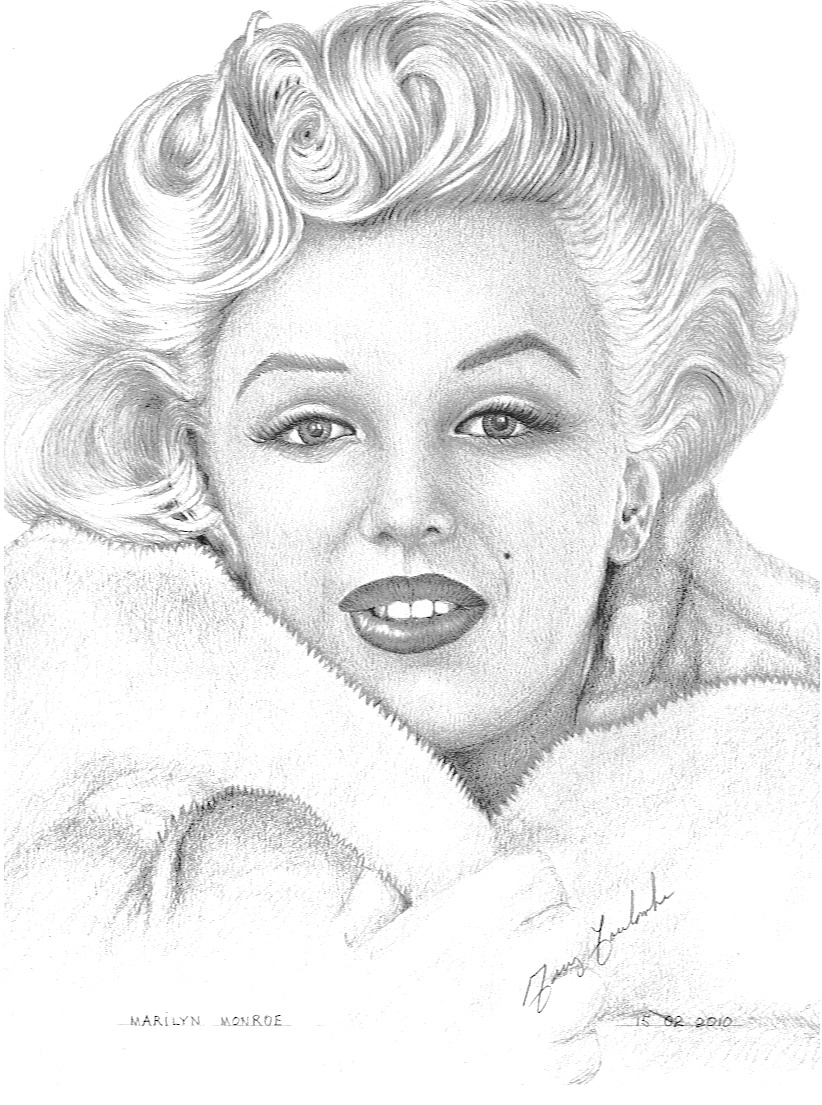 Marilyn Monroe Coloring Pages