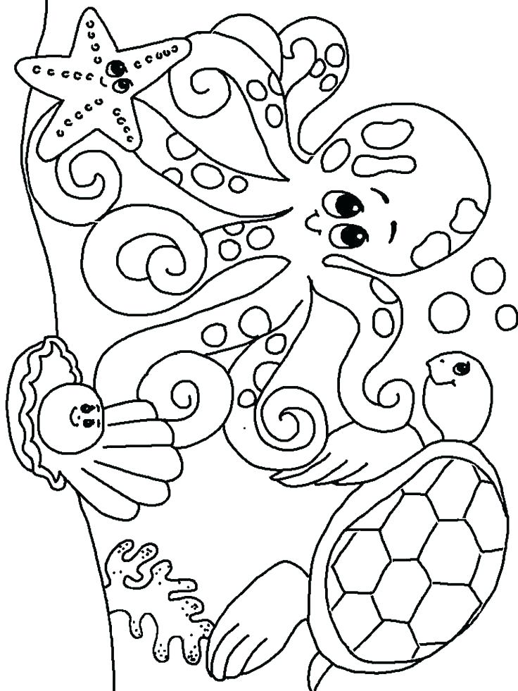736x981 Sea Creatures Coloring Pages Astonishing Sea Creatures Coloring