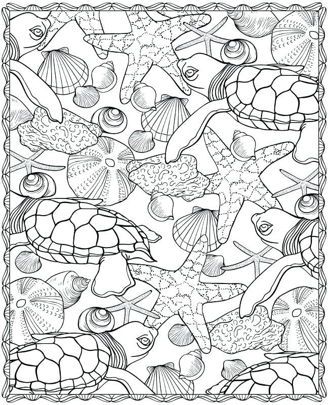 650x800 Marine Animals Coloring Pages Vanda