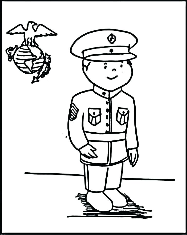 768x964 Marines Coloring Pages Military Coloring Pages Online Marine Page
