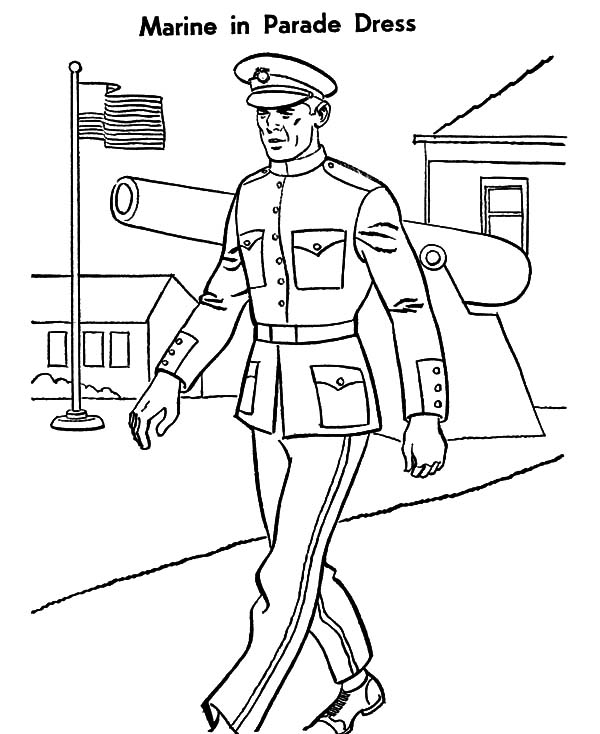 600x734 Military Marine Parade Dress Coloring Pages Color Luna