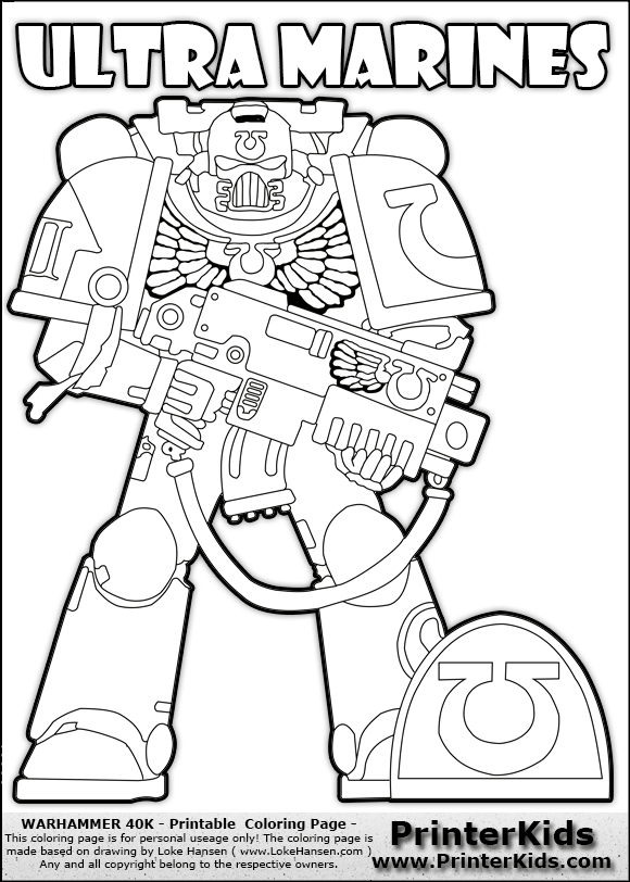 580x812 Space Marine Coloring Pages