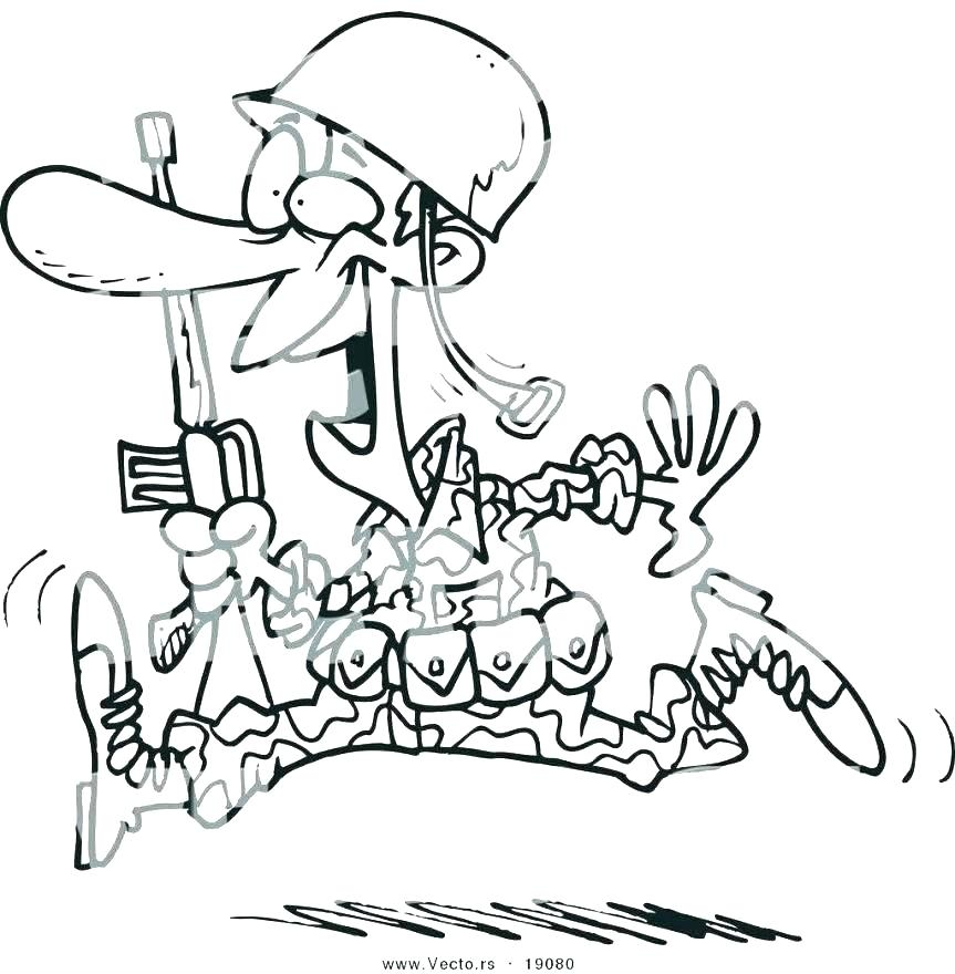 863x880 Army Guy Coloring Pages Army Coloring Sheets Free Pages Vector