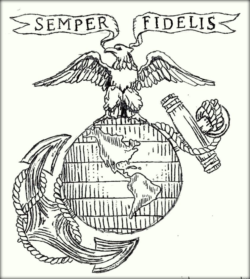 840x937 Marine Coloring Pages