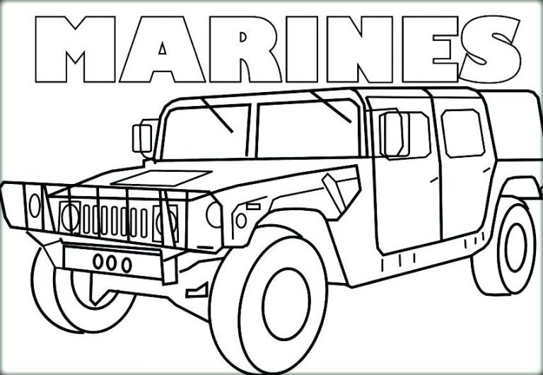 768x530 Coloring Pages For Usmc Best Of Marine Corps Car Pictures