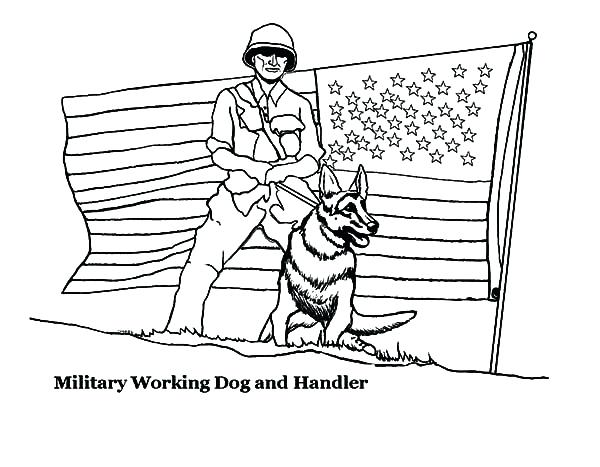 600x467 Unique Marine Corps Coloring Pages And Military Coloring Pages Dog