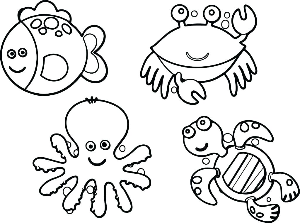 1024x760 Marine Life Coloring Pages Sea Life Coloring Pages Large Size