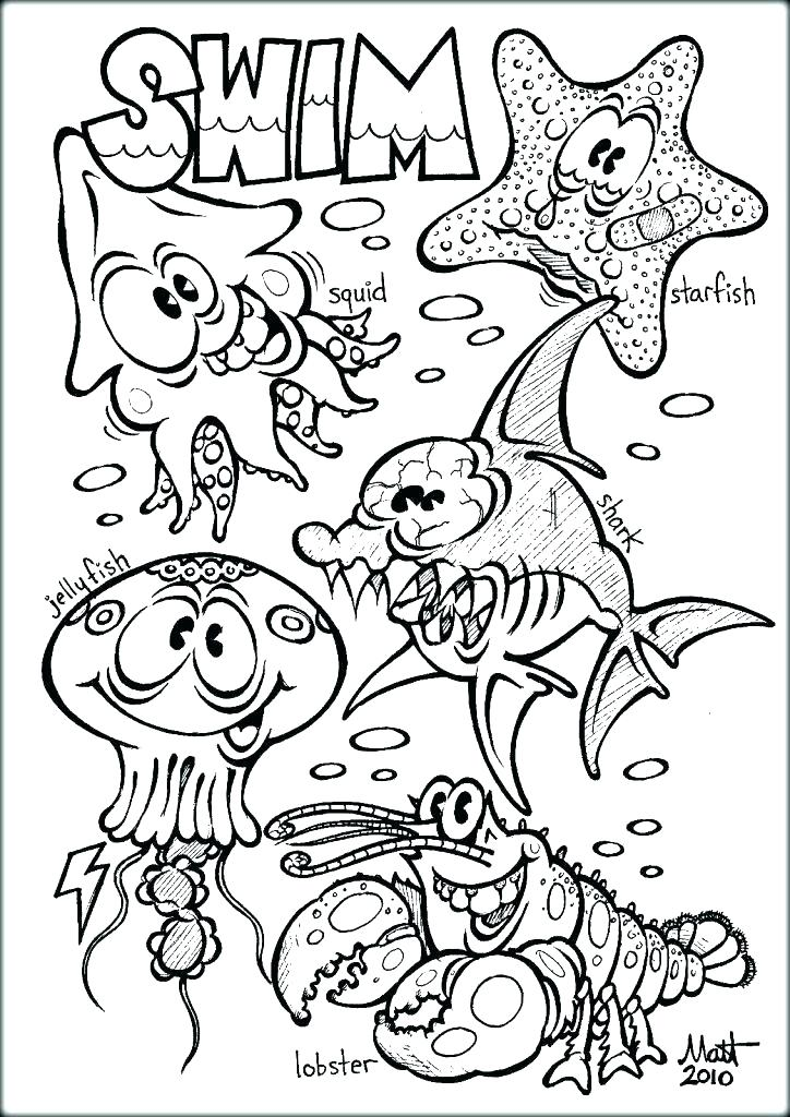 724x1024 Marine Life Coloring Pages Underwater Coloring Page Underwater Sea