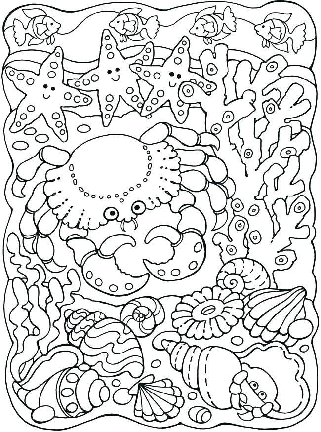 650x875 Under The Sea Coloring Sheets Under The Sea Coloring Page Sea