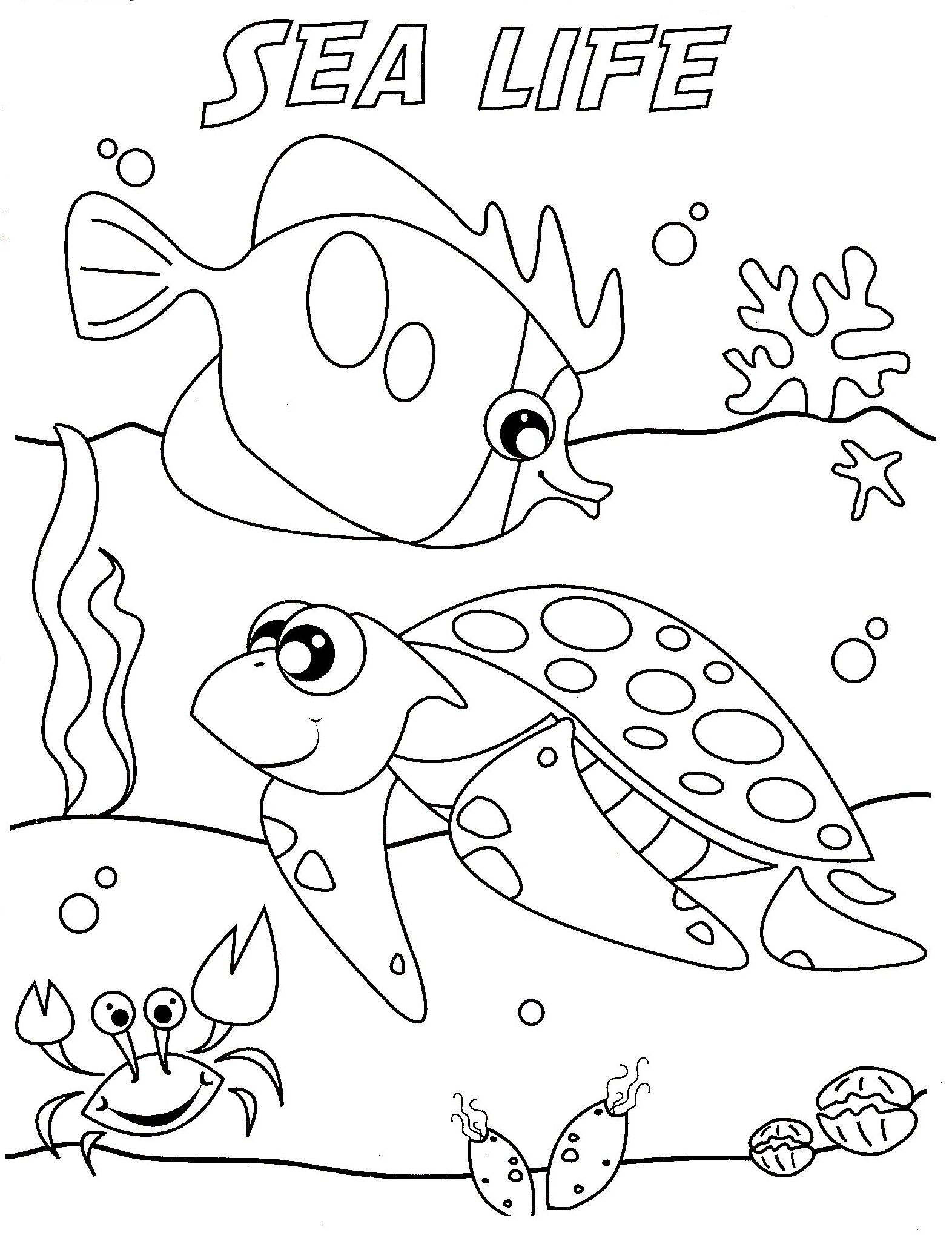 1572x2064 Ocean Life Coloring Pages To Download And Print For Free Home Sea