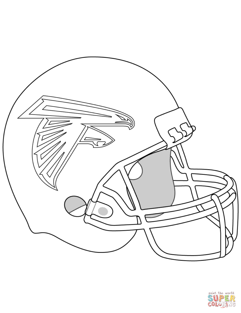 791x1024 Seahawks Color Picture Click Coloring Pages Football Helmet