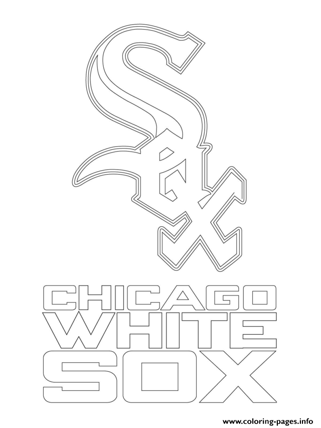 640x853 Chicago White Sox Logo Mlb Baseball Sport Coloring Pages Printable