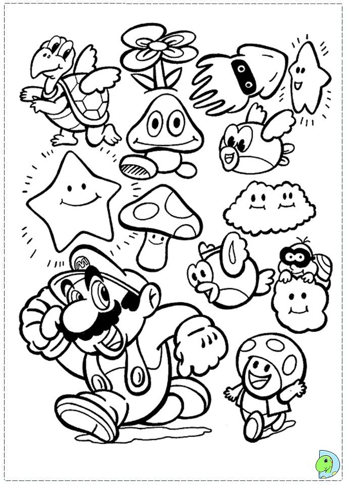 Mario 3 Coloring Pages