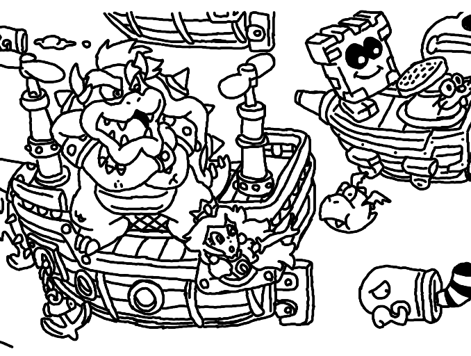 678x512 Mario World Coloring Pages Mario World Coloring Pages