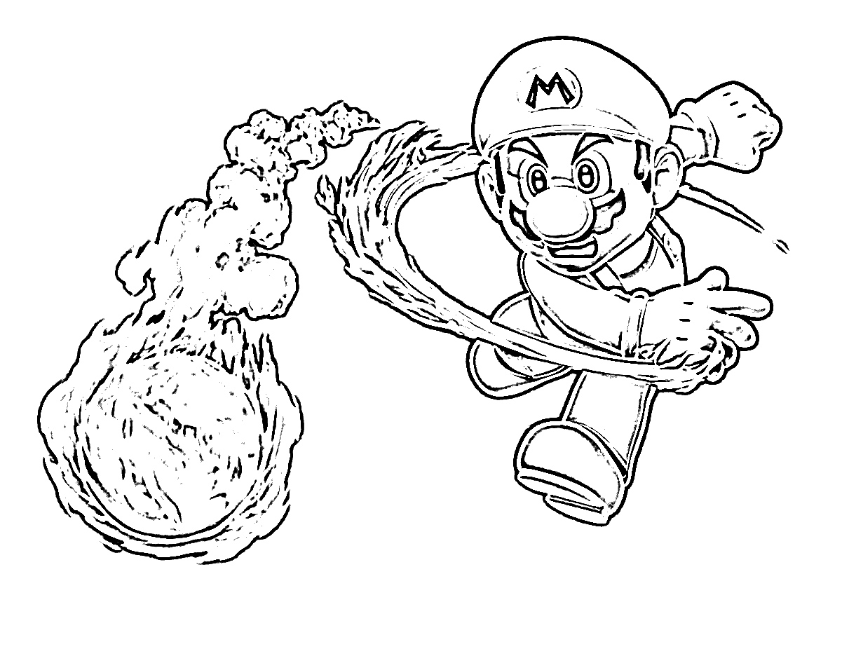 1211x926 Mario Coloring Pages