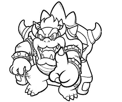 400x333 Printable Super Mario Land Bowser Characters Coloring Pages