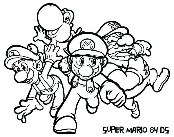 600x471 Super Mario Coloring Page Super Coloring Pages Super Mario