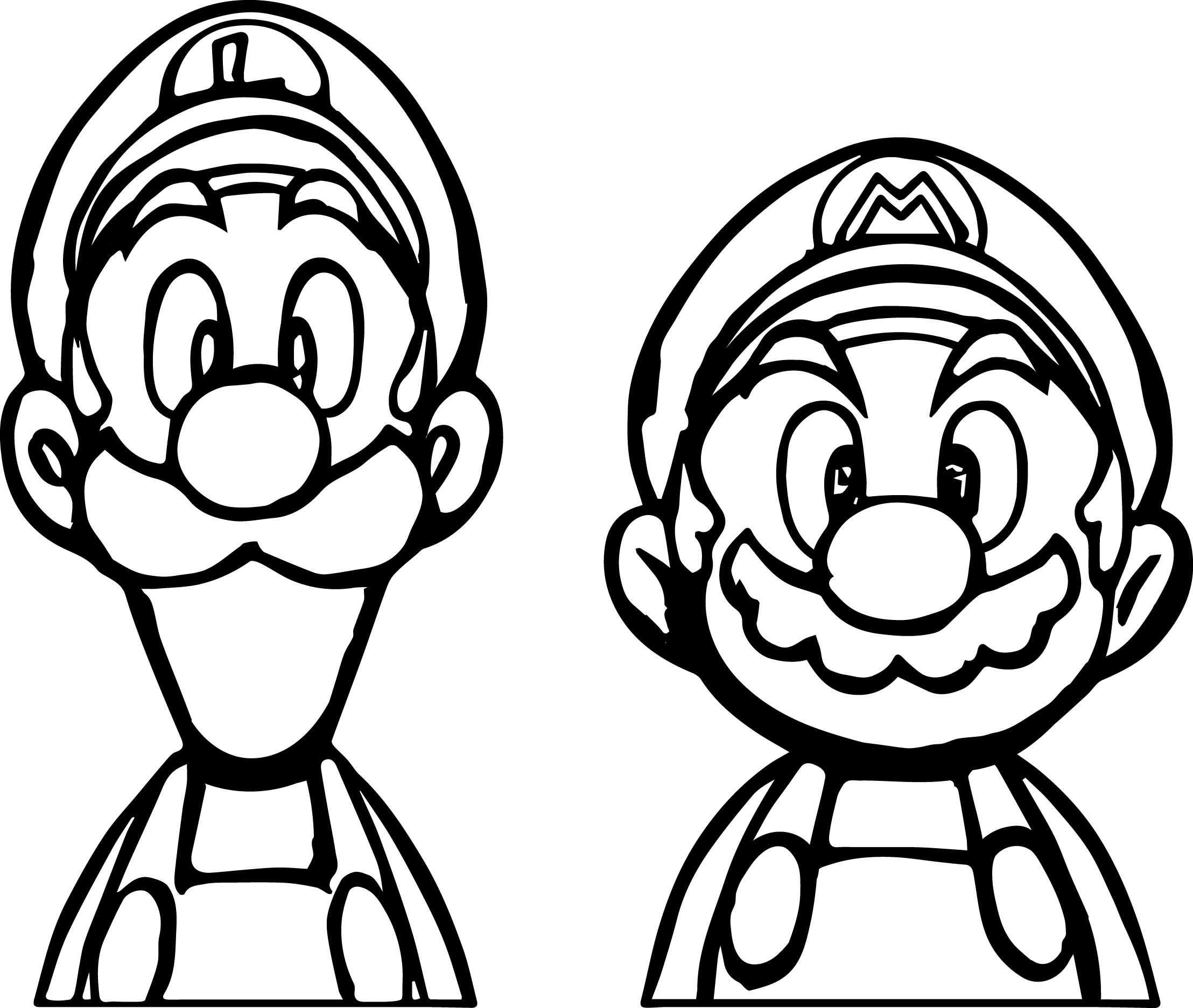 2216x1873 Mario Color Pages, Luigi And Mario Coloring Pages