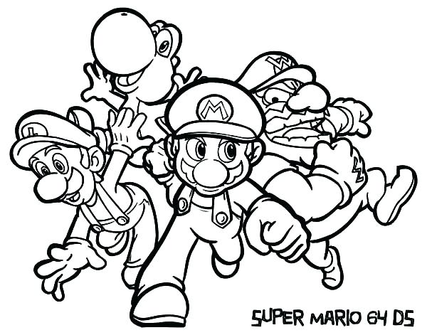 Mario And Luigi And Yoshi Coloring Pages At Getdrawings Com