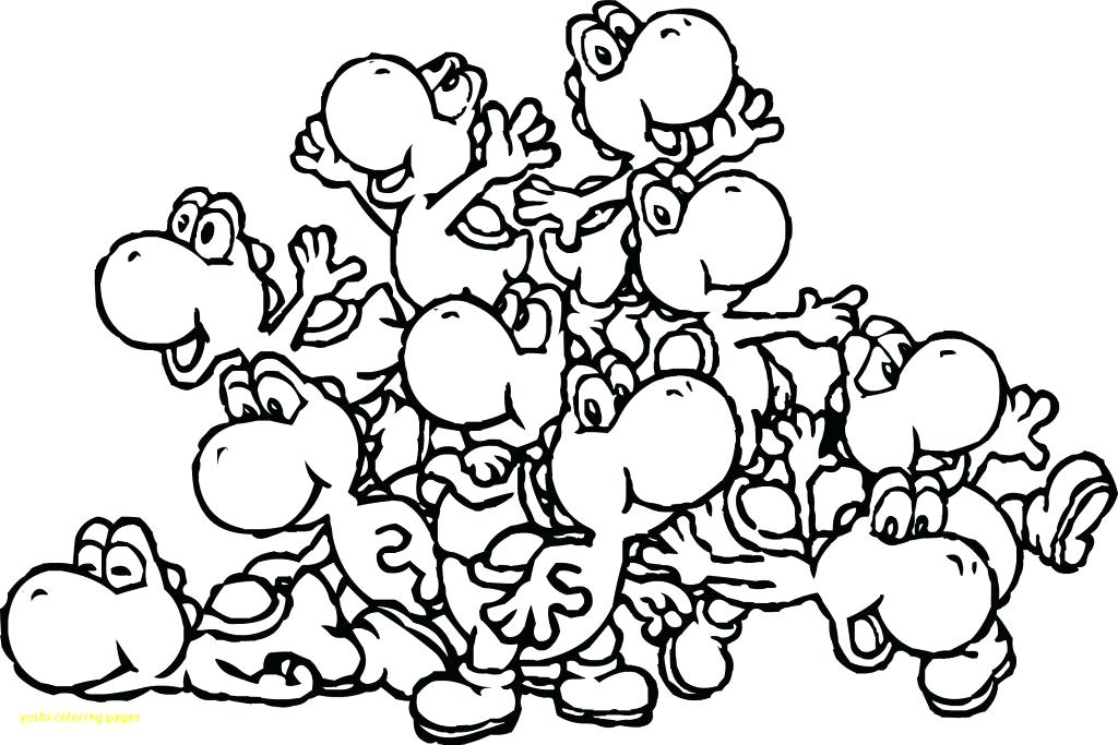 1024x683 Coloring Pages Yoshi