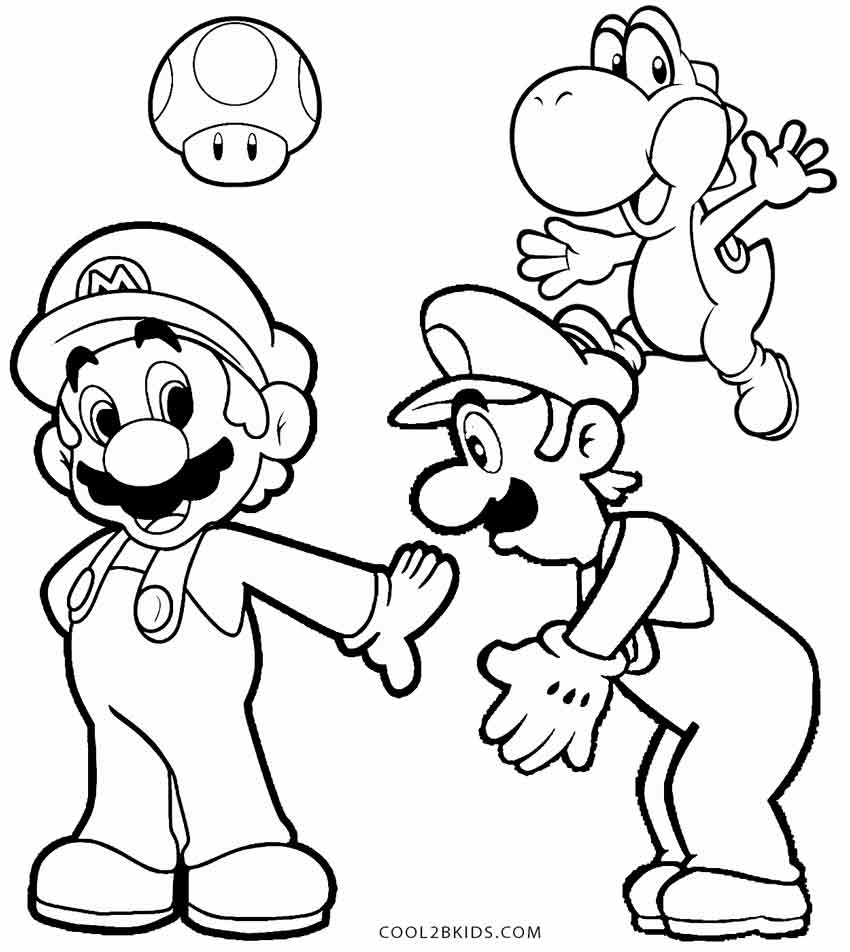 Mario And Luigi And Yoshi Coloring Pages at GetDrawings ...