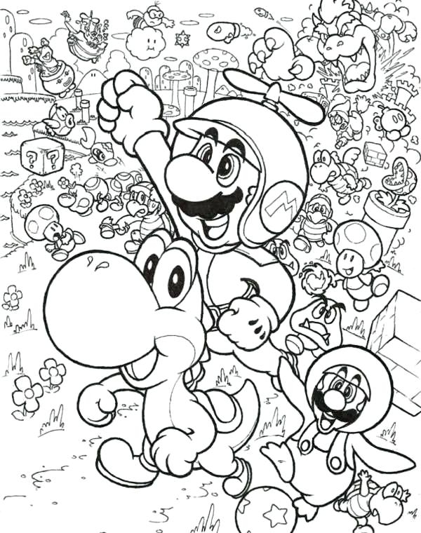 600x760 Mario And Luigi And Yoshi Coloring Pages Mario And Luigi Coloring