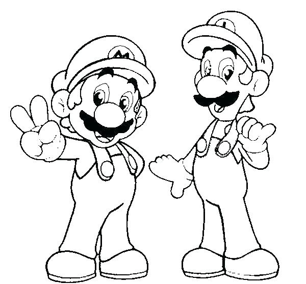 Mario And Luigi And Yoshi Coloring Pages_ at GetDrawings ...