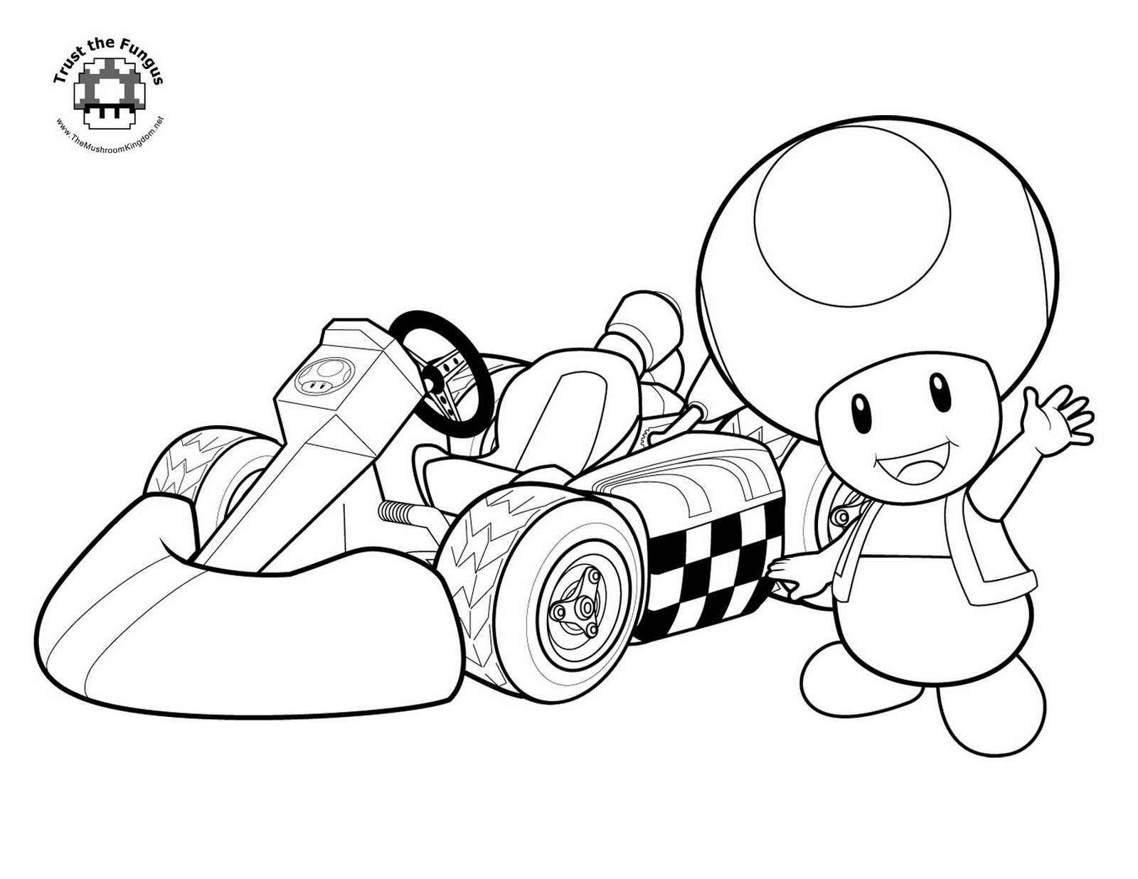 1600x1236 Awesome Coloring Pages Mario Kart Characters Super Mario Bros