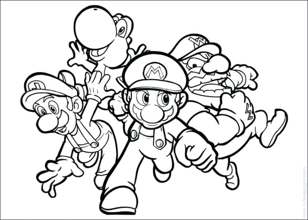 1000x714 Mario Bros Coloring Pages Shop Related Products Mario Bros