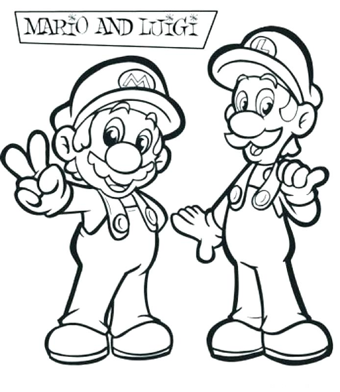 694x800 Mario Brothers Coloring Pages Bros Coloring Pages Brothers