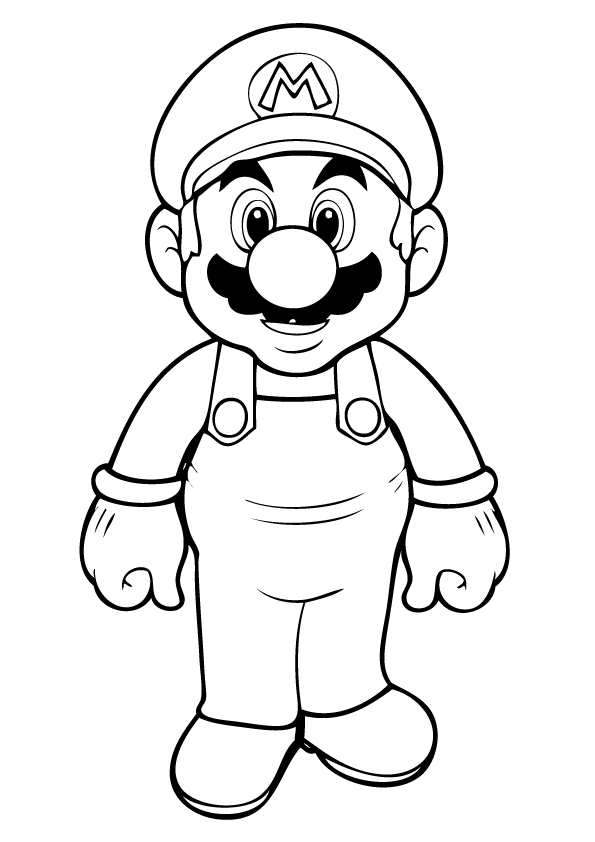 595x842 Mario Characters Coloring Pages
