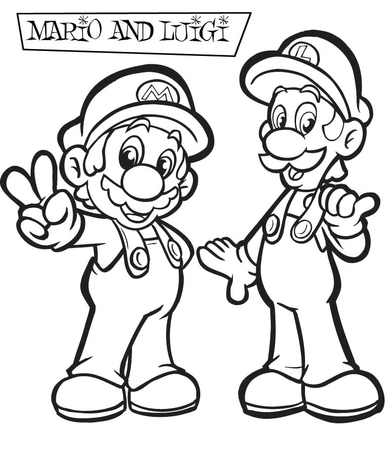 793x915 Mario Characters Coloring Pages Super Characters Coloring Pages