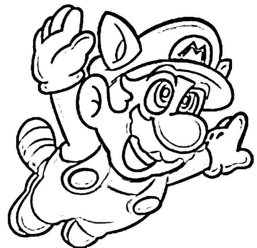 824x794 Mario Coloring Pages