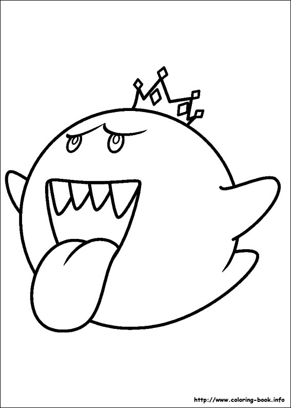 567x794 Mario Kart Characters Coloring Pages Super Mario Bros Coloring