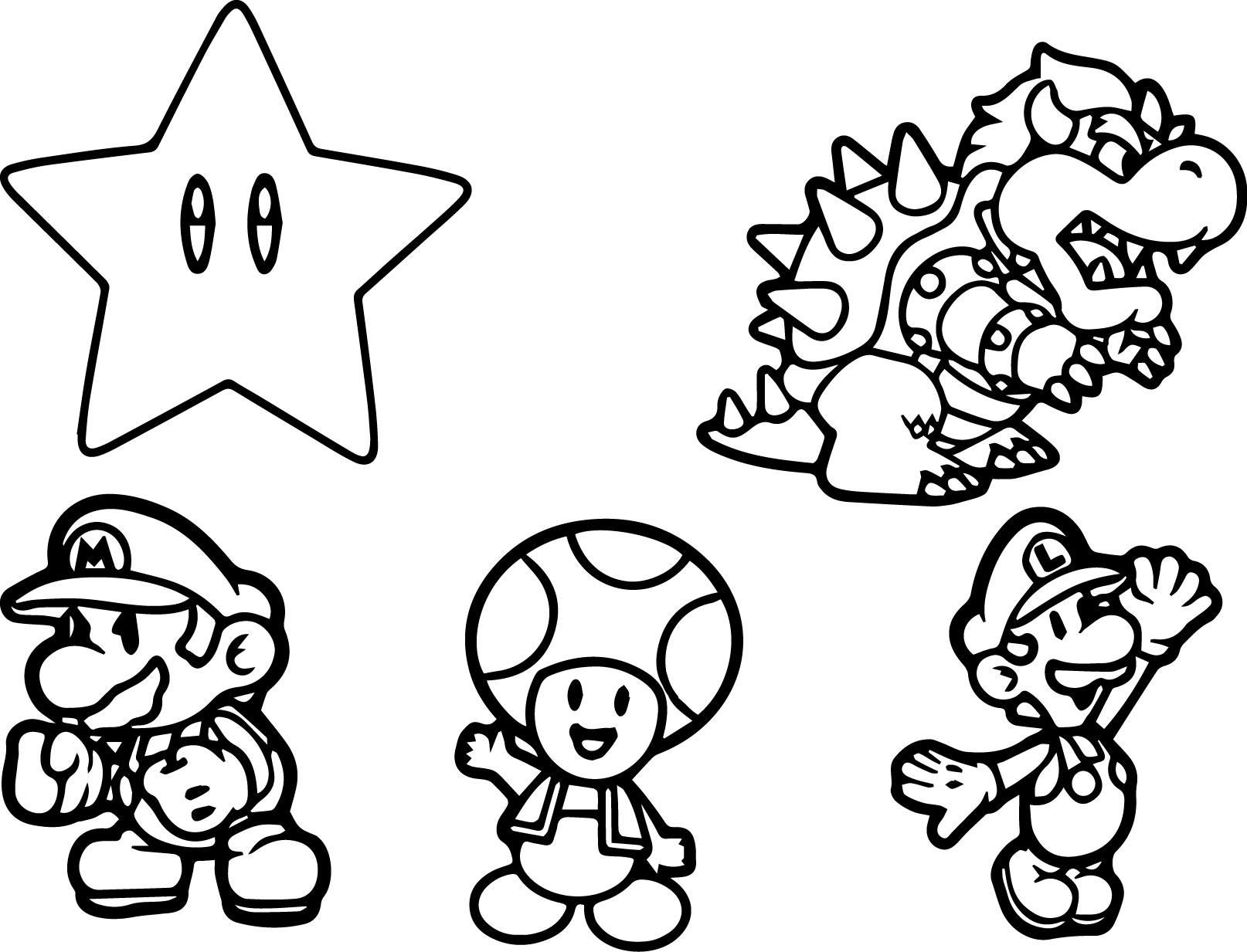 mario bros characters coloring pages at getdrawings  free