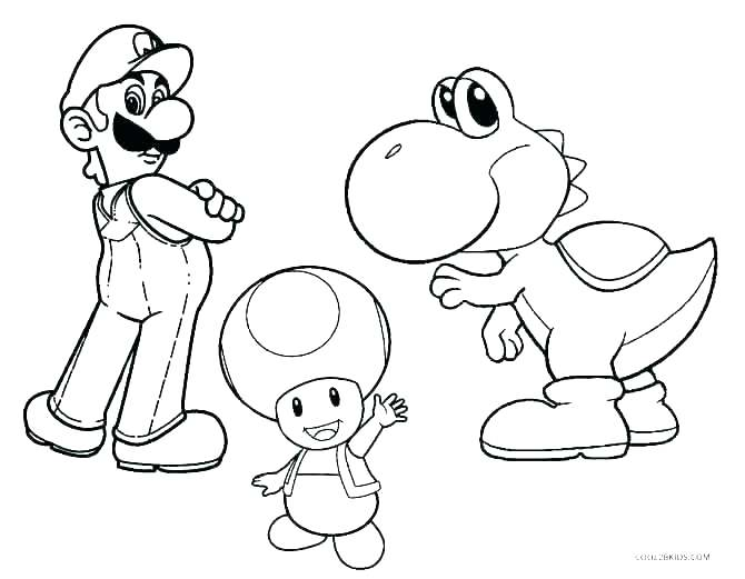 670x521 Super Mario Brothers Characters Coloring Pages Coloring Pages