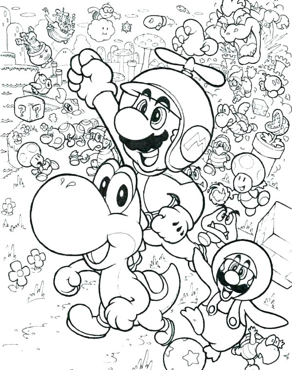 600x760 Mario Characters Coloring Pages