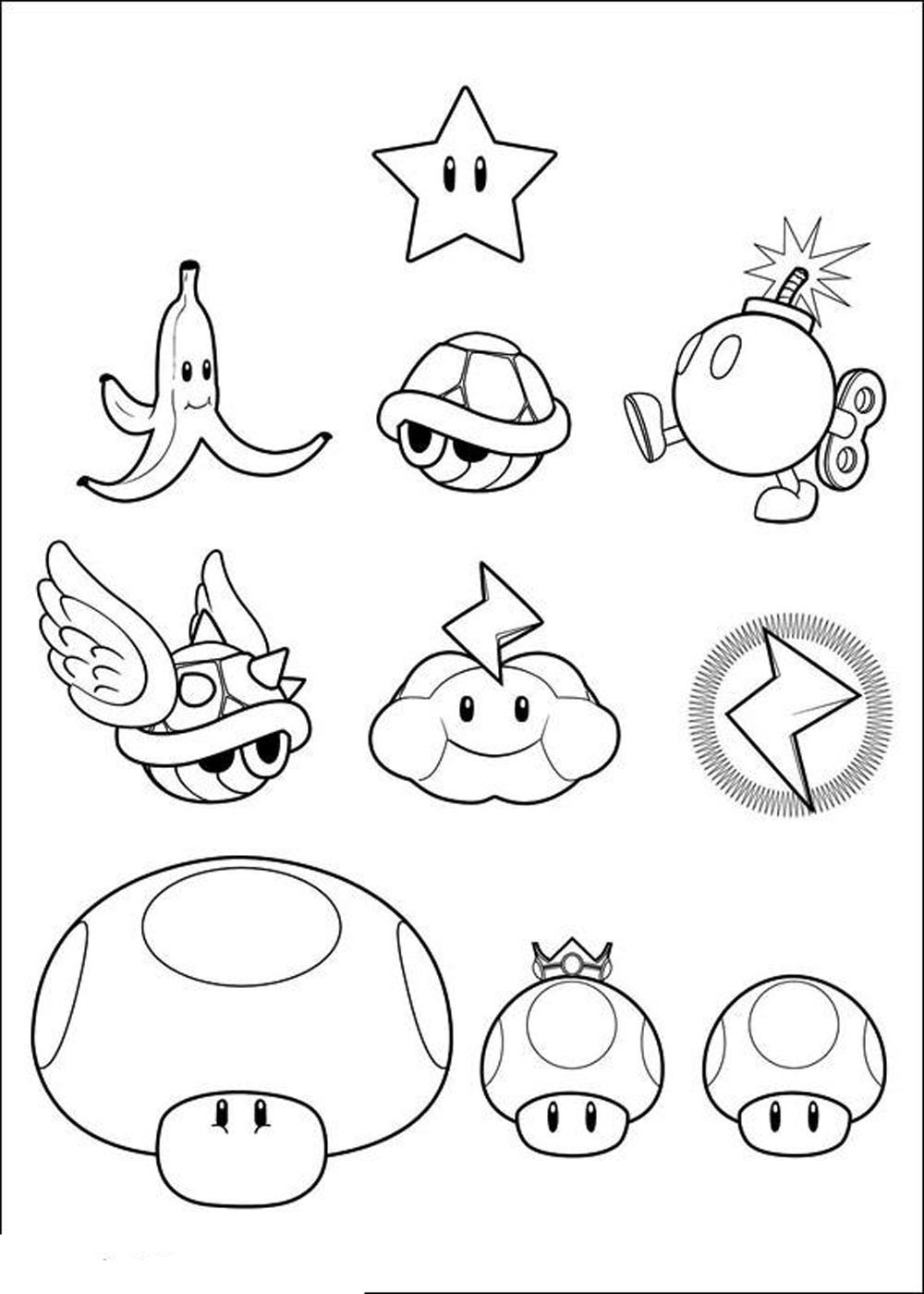 1000x1400 Super Mario Bros Printable Coloring Pages