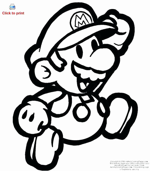 500x570 Coloring Pages Of Mario Characters Lovely Colouring Pages Mario