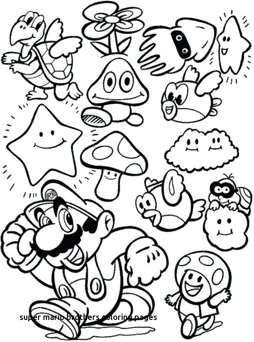 520x698 Mario Bros Coloring Pages Bros Coloring Pages For Super Brothers
