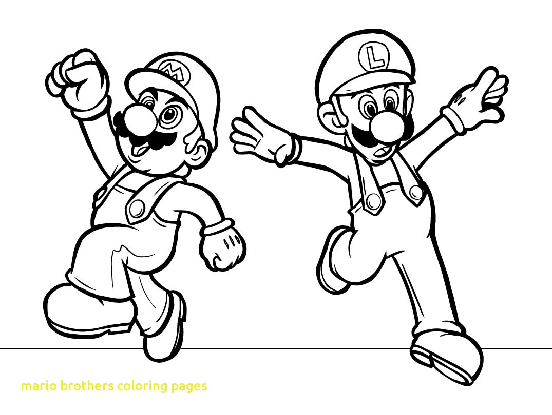 1075x810 Mario Brothers Coloring Pages With Super Page Of For Printable