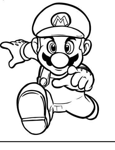 371x480 Mario Brothers Printable Coloring Pages
