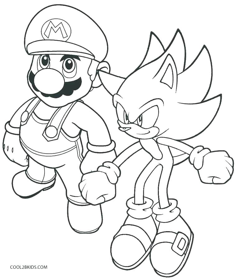 758x900 Mario Coloring Pages Online Printable Coloring Pages And Sonic