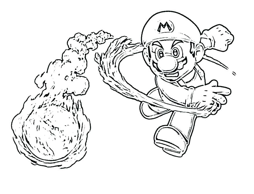 878x672 Mario Coloring Pages Online With Color Page Bros Printable
