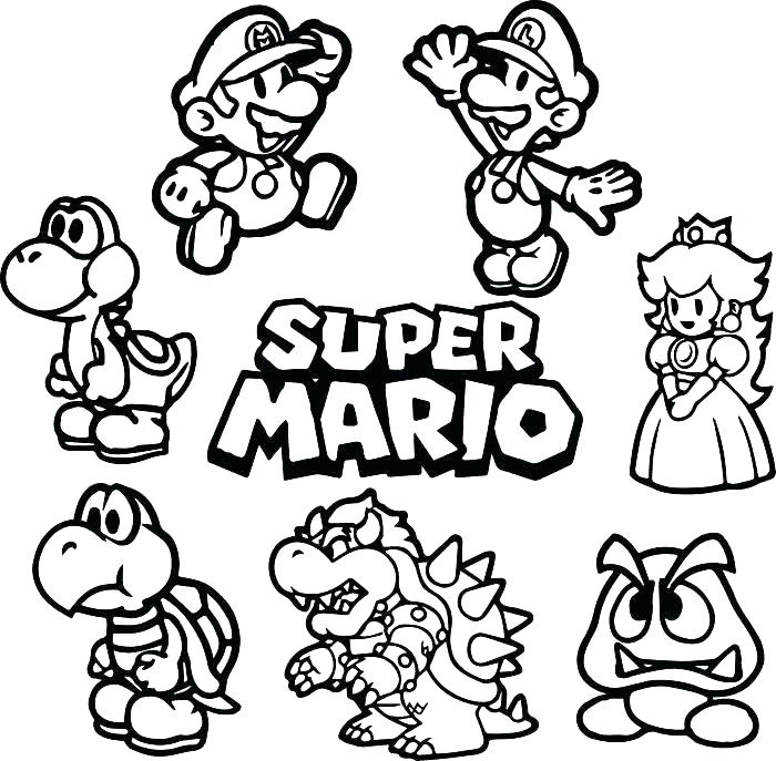 700x687 Mario Printable Coloring Pages Super Paper Coloring Pages Mario