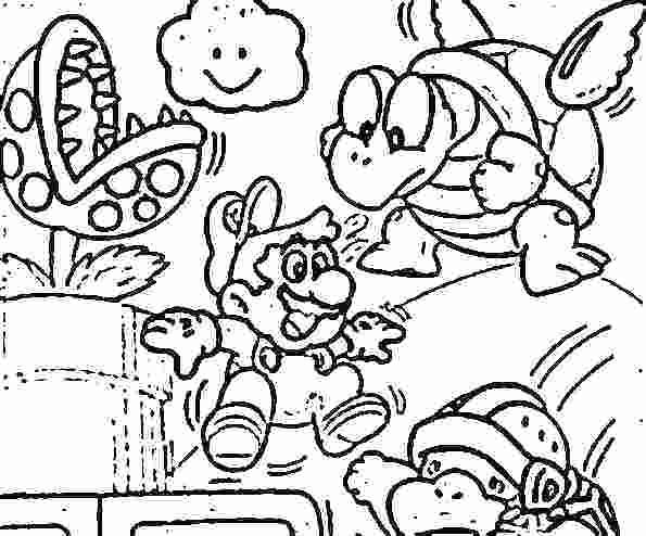 595x494 Mario Bros Coloring Pages Bros Printable Coloring Pages Super Bros