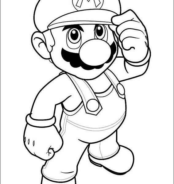 567x600 Mario Bros Printable Coloring Pages Free Mario Coloring Pages
